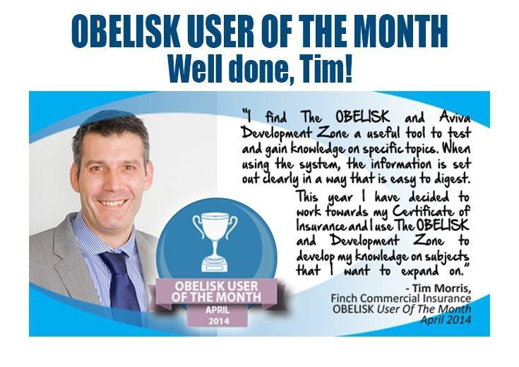 Tim Harris - Obelisk User Of The Month